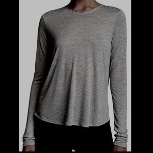 Vince Pleated Back Long Sleeve Knit Top